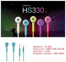 Luxury Hot Sale 3.5mm Earphone W/Volume Control For Samsung Galaxy S4 i950