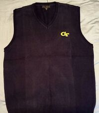 Georgia Tech Yellow Jackets V neck Sweater Vest Licensed  GTU  University