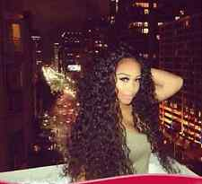 BRAZILIAN 130% REAL HUMAN CURLY HAIR GLUELESS LACE FRONT (Free UPS to USA)
