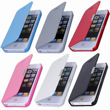 Magnetic Flip Leather Hard Skin Pouch Wallet Case Cover For Apple iPhone 5S 5G
