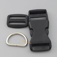 5 10 set 1 Inch Plastic Buckle webbing Dee Rings for Dog Collar Kit Makes S67
