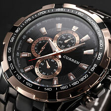 Curren Stainless Steel Band Luxury Sport Analog Quartz Clock Mens Wrist Watch