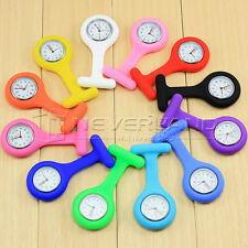 NEW Cute Silicone Nurse Watch Brooch Fob pocket Tunic Quartz Movement Watch
