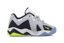 Reebok Kamikaze II Low M44911 New Toddler Baby White Steel Navy Basketball Shoes