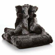 A by Adrienne Landau 2-piece Booties and Faux Fur Throw  NEW