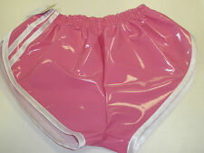PVC SPRINTER Shorts Small to XXL 70s & 80s Retro, Hot Pink & White Accents