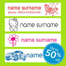 STICK-ON School Name Labels Tags tag sticker  stickers NAME LABELS - UK SHOP