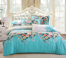 Fashion Korean Stylish Cotton Floral Bedding Set 3/4 Pieces Bedroom Comforter