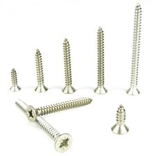 Stainless Steel Countersunk Self Tapping Screws Pozi Drive A4 Marine Grade No.8