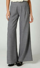 Elevenses Pleated Gauzy Wool Crepe Wide Leg Pants Size 6 NW ANTHROPOLOGIE Tag