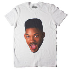 FRESH PRINCE FACE T-Shirt - WHITE - bel air 90's will smith