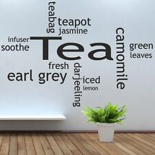 Tea Collage Wall Art Picture Sticker bar kitchen kettle toaster living room