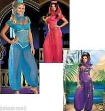 NEW DISNEY WOMENS PRINCESS JASMINE TRIBAL BELLY DANCE FANCY DRESS COSTUME LADIES