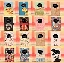 Cute Cartoon Painting flip wallet Leather Case Cover stand For LG Optimus G3