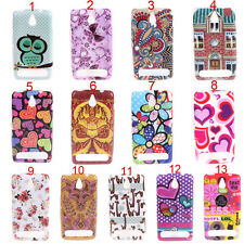 Owl Butterfly Smooth silicone Tpu Gel Soft Back Skin Case For Sony Xperia E1