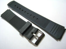 Black Rubber/Plastic Watch Strap. Fast Delivery from UK