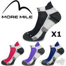MORE MILE MENS WOMENS LADIES MIAMI ANKLE RUNNING SPORTS GYM CUSHIONED SOCKS 1