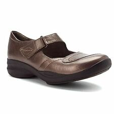 Clarks IN MOTION FLEX Womens Pewter Leather Comfort Mary Jane Dress Shoes