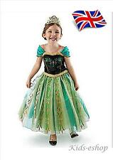 UK Seller  FROZEN CORONATION PRINCESS ANNA STYLE COSTUME FANCY DRESS PARTY