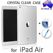 Crystal Clear Transparent Back Case for iPad Air & Air 2 Works with Smart Cover