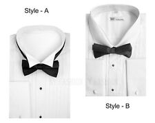 Men's Tuxedo Dress Shirt Wing Collar with Bow-Tie Set French Cuff Style-SG11A .B