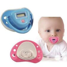 New Baby Digital Dummy Pacifier Thermometer Trendy Safe Pink BDRG