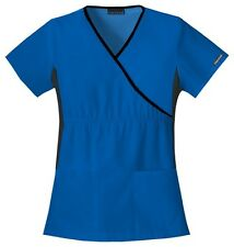Cherokee Scrubs Flexibles V Neck Scrub Top 2500 ROYAL BLUE