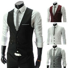 █ █ Fashion Men's Slim Fit Formal Casual Dress Vest Suit Waistcoat Jacket Coats