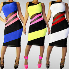 Sexy Women Sleeveless Slim Fit Fashion Bodycon Party Cocktail Evening Club Dress