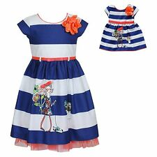 """Dollie & Me Sz 7  and 18"""" Doll Matching dress outfit clothes fit american girl"""