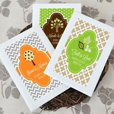 Personalized Fall Autumn Eco Plantable Wildflower Seed Bridal Wedding Favor