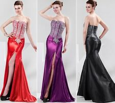 Vintage Sexy Shiny Bridesmaid Evening Prom Cocktail Wedding Formal Slim Dress JS