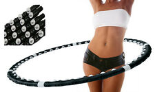 Hula Hoop Ab Fitness Exercise Massager Professional Weighted Magnetic Gym Abs