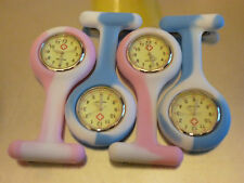 Nurses midwife Fob Watches - Pink and Blue Unique Glow in the Dark Timer