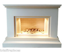Shadow Marble Fireplace with Fire - Made in England
