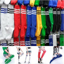 Thigh High Sock Over Knee Leg Sock Stocking Girl Women Stripe Cheerleader