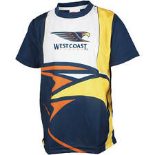 AFL West Coast Eagles Youth Kids Training T-Shirt Tee,  size 6 7 8 10 12 14