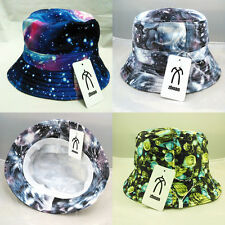 Men's Women's Galaxy Planet Bucket Hat Boonie Sun Hats Hunting Fishing Cap