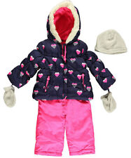 "Carter's Baby Girls' ""Stripe Heart"" 2-Piece Snowsuit with Accessories"