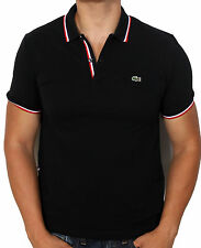 Lacoste L!VE Men's Slim Short Sleeve Polo Shirt PH9542-51 4UL Blak NWT Authentic