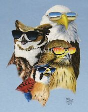 COOL RAPTORS-Bald Golden Eagle Hawk Falcon Owl Birds Nature Science Kids T shirt