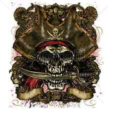 Pirate Captain Skull & Knife T-Shirt & Tank Tops All Sizes & Colors New