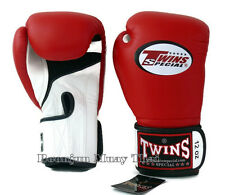 NWT Twins Special Muay Thai MMA K1 Boxing Gloves BGVLA 1 Air  White Red Black
