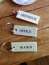 "Key Ring or Tag for the 'Greenhouse, Office or Barn"", Self Assembly"