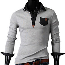 New Fashionable All-cotton Slim Lapel Collar Long Sleeve Casual Men's Shirt