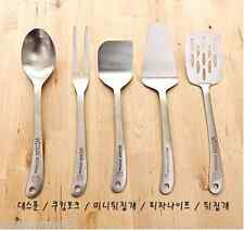 Wicker Stainless steel Cooking Utensils Spoon Fork Pizza knife Turner Cookwares