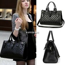 Lady PU Leather Shoulder Bag Messenger Tote Satchel Purse Cross Body Handbag Bag
