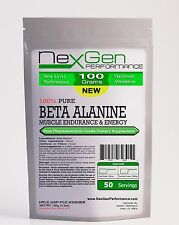 3.5oz (100g) BETA ALANINE POWDER Kosher -Recovery- Muscle Endurance and Strength