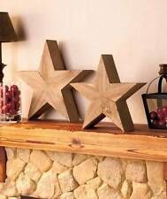 Genuine Wood Handcrafted 3D Stars Rustic Folk Art Accent Large Medium or Set NEW