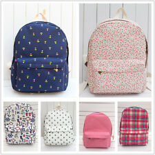 Cute Student's Canvas Shouders Backpack Boy&Girl School Book Campus Bag Sport